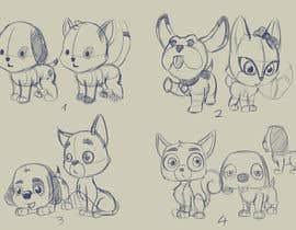 #18 para Concept art for a virtual pet game: kitten and puppy por Milos009