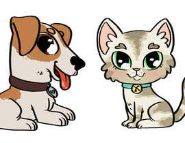 nº 3 pour Concept art for a virtual pet game: kitten and puppy par dreahatch
