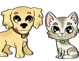 nº 4 pour Concept art for a virtual pet game: kitten and puppy par dreahatch