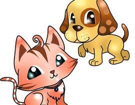 nº 12 pour Concept art for a virtual pet game: kitten and puppy par chubi91