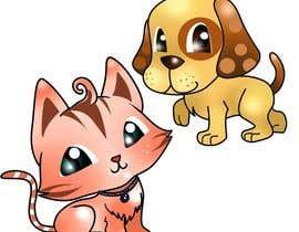 #12 para Concept art for a virtual pet game: kitten and puppy por chubi91