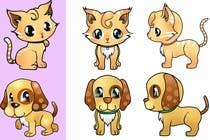 Proposition n° 19 du concours Graphic Design pour Concept art for a virtual pet game: kitten and puppy