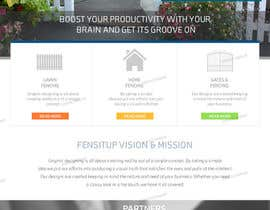 nº 23 pour Design a Website Mockup for Fensitup par freeoutsourcer