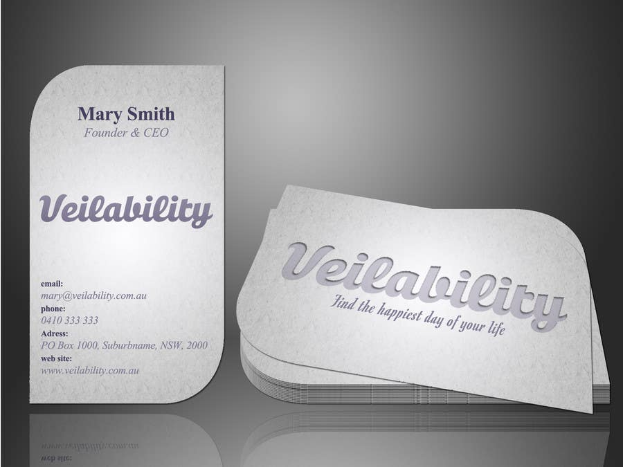 Penyertaan Peraduan #11 untuk Business Cards + Digital Signature for disruptive wedding portal