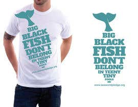 #1 para T-Shirt Design for Big Black Fish por purenorth