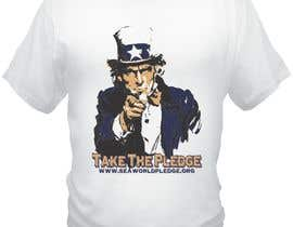 nº 5 pour Design a Take The Pledge T-shirt (Uncle Sam) par bacujkov