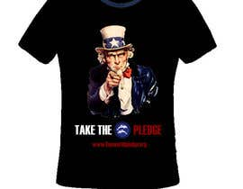 nº 11 pour Design a Take The Pledge T-shirt (Uncle Sam) par jneximint