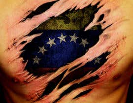 #5 for Torn flesh tattoo flag desing by klaudix13