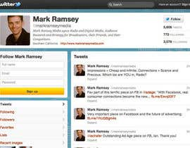 #33 para Twitter Background for Mark Ramsey Media por wademd
