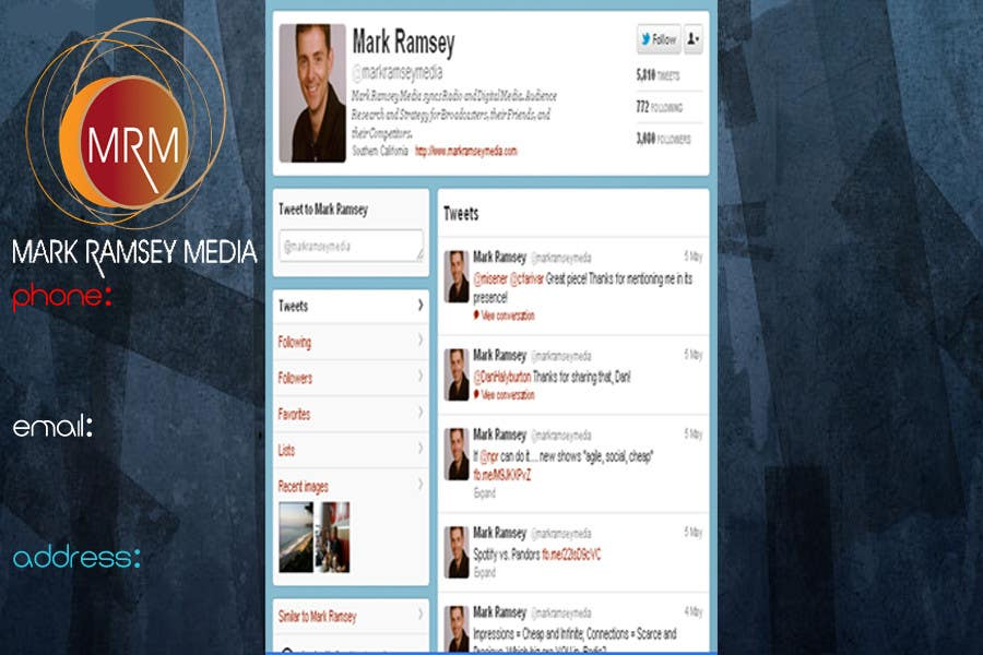 Twitter Background for Mark Ramsey Media