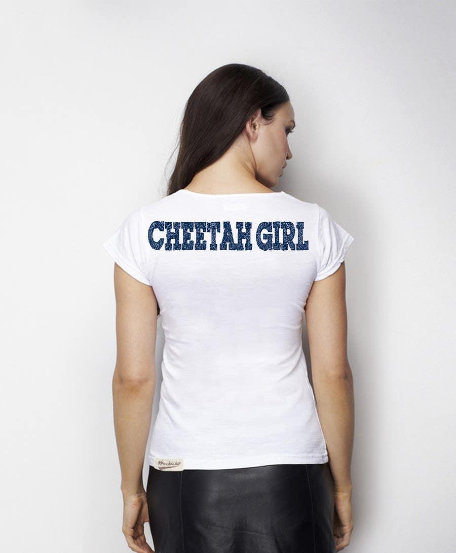 Proposition n°21 du concours Simple T-Shirt Design: Cheetah Girl
