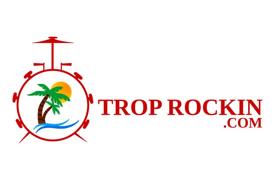 Contest Entry #52 for Logo Design tropical music theme blog