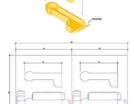 mjosgo15 tarafından Design a 2d cardboard cut out that can be folded into a 3d box için no 18