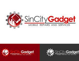 #66 untuk Design a Logo for a Cell Phone Repair Company in Las Vegas - Sin City oleh dandrexrival07