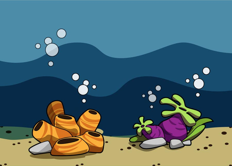 Kilpailutyö #24 kilpailussa 2D artwork (ROCKS & VEGETATION) for obstacles in side-scrolling video game.