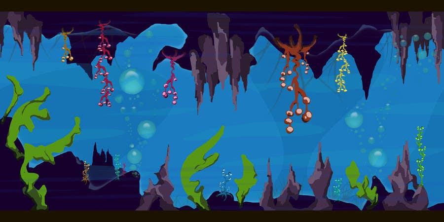 Kilpailutyö #9 kilpailussa 2D artwork (ROCKS & VEGETATION) for obstacles in side-scrolling video game.