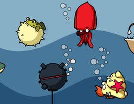 #6 cho 2D artwork (FISH & Underwater Bombs) for obstacles in side-scrolling video game. bởi datpt1112