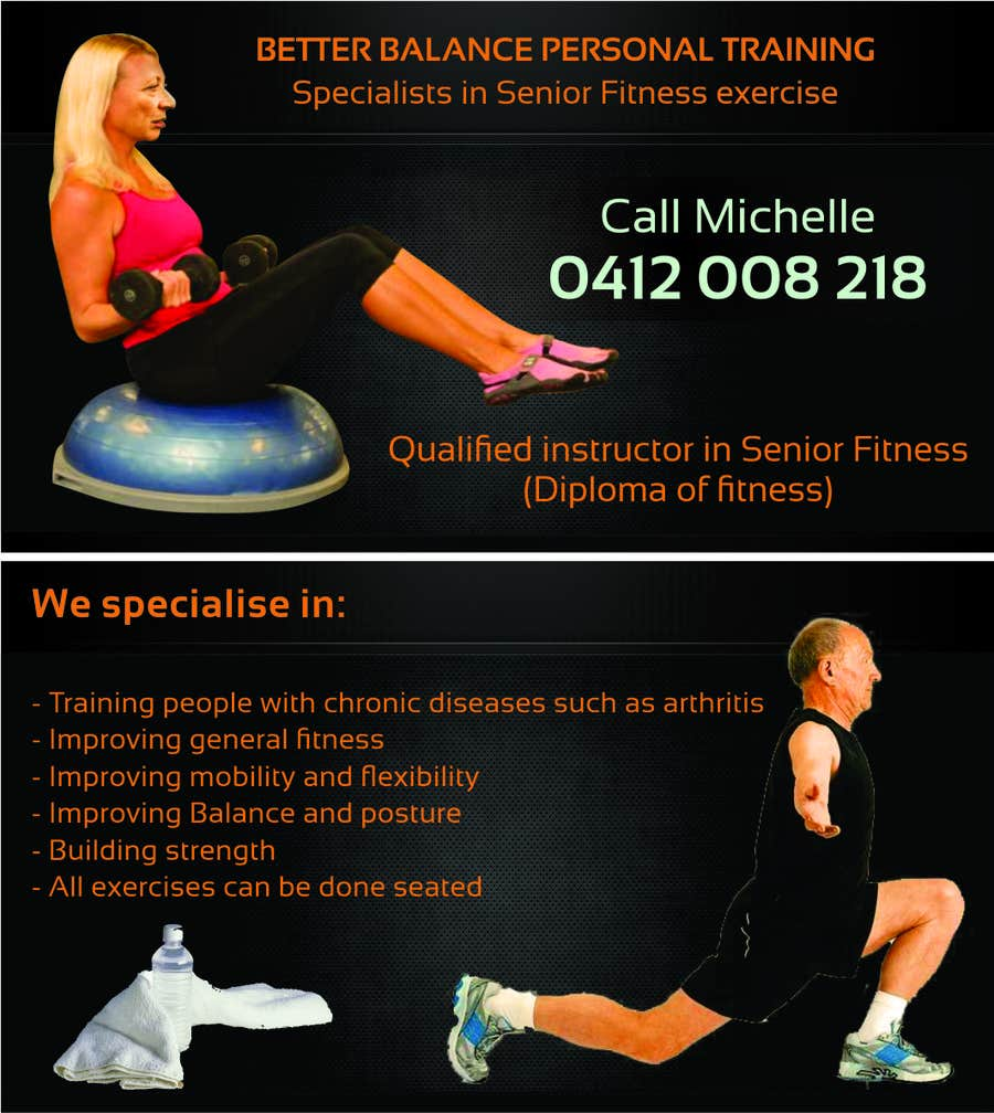 Contest Entry #15 for Design some Business Cards for Better Balance Personal Training