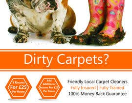 nº 35 pour Design a Flyer for a carpet cleaning business. DOUBLE sided par TATHAE