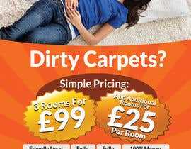 #22 para Design a Flyer for a carpet cleaning business. DOUBLE sided por freelancejob2013