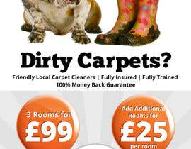 #46 para Design a Flyer for a carpet cleaning business. DOUBLE sided por Mimi214