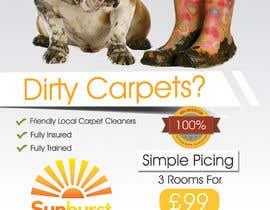 #40 para Design a Flyer for a carpet cleaning business. DOUBLE sided por IllusionG