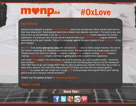 Nro 19 kilpailuun Design a Landing Page for MakeLoveNotPorn.tv ! käyttäjältä Moesaif