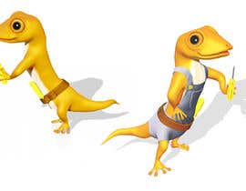 "#106 for ""Lizard Lick LED"" character branding - Lizard & Lick! af Izzyarts"