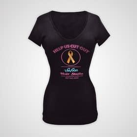 tdesignstulasi tarafından Design a t-shirt for our hair salon and help fight cancer için no 34