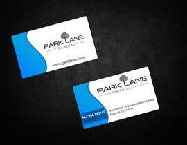 #30 untuk Business Card Design for Park Lane Financial oleh aryamaity