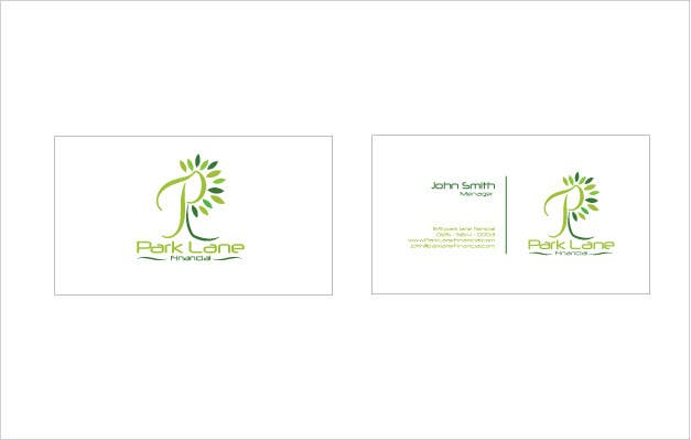 Contest Entry #                                        53                                      for                                         Business Card Design for Park Lane Financial