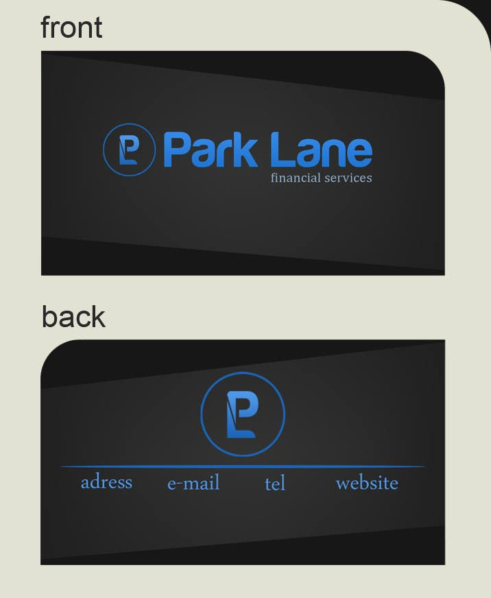 Contest Entry #                                        29                                      for                                         Business Card Design for Park Lane Financial