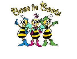 #63 для Bees in Boots Logo Design от manikmoon