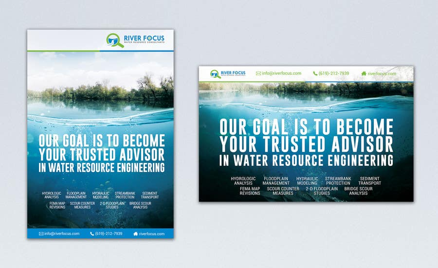 Konkurrenceindlæg #                                        43                                      for                                         Design Advertisements for a Water Resources Consulting Firm