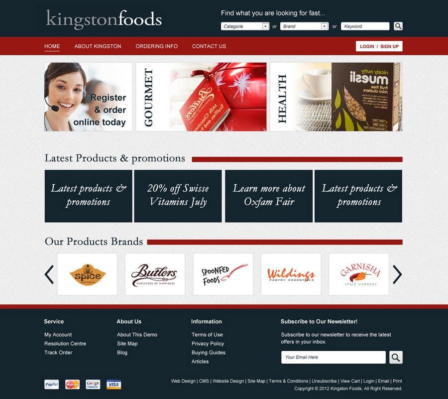 Bài tham dự cuộc thi #43 cho Website Design for Kingston Foods Australia