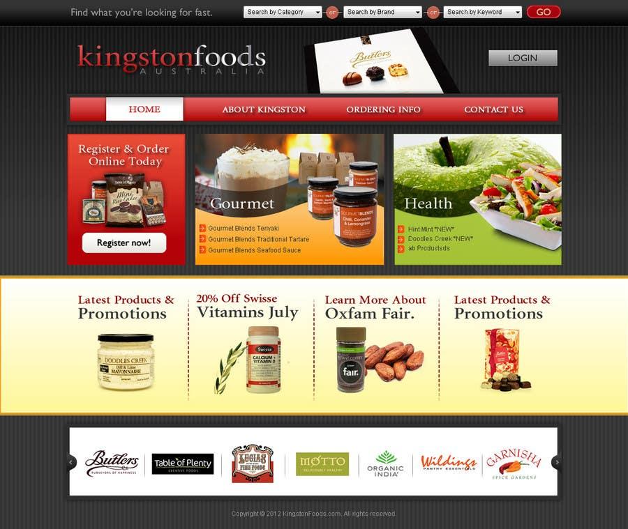 Bài tham dự cuộc thi #46 cho Website Design for Kingston Foods Australia