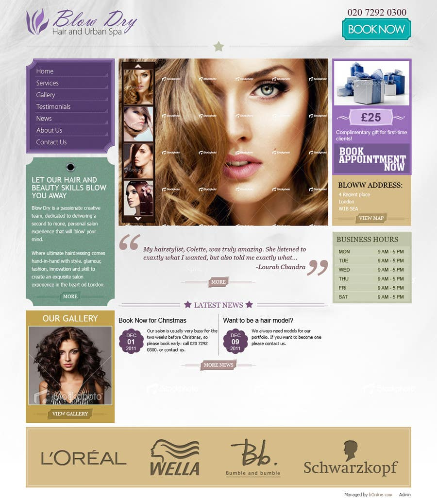 #41 for Design a Website Mockup for beauty site by online3