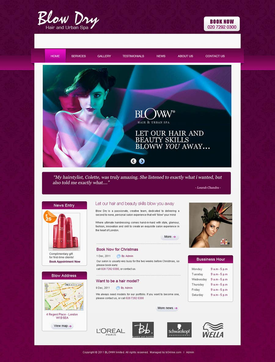 #49 for Design a Website Mockup for beauty site by online3