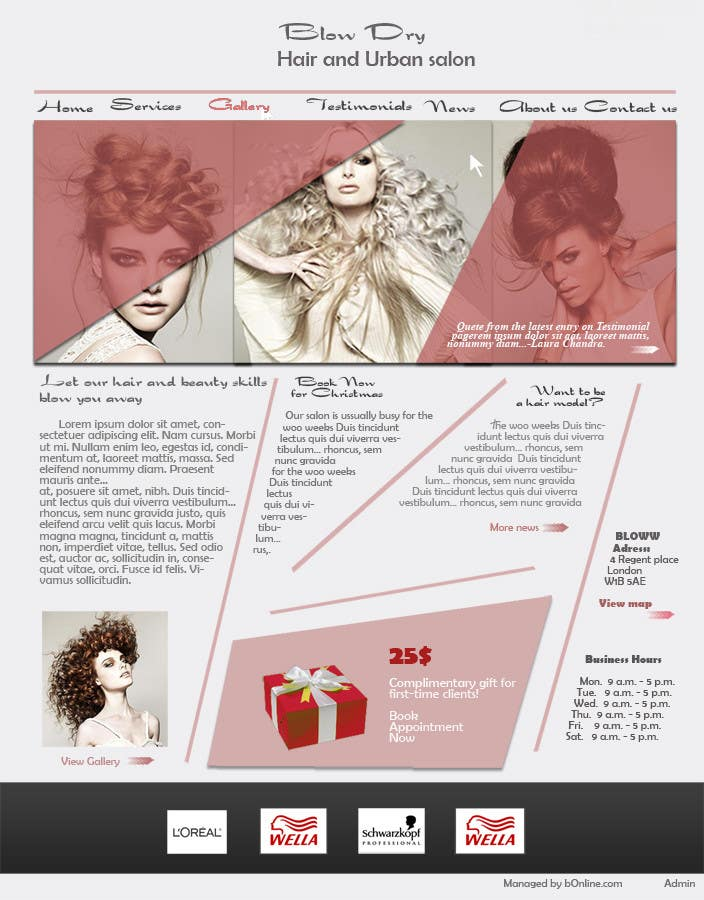 #50 for Design a Website Mockup for beauty site by online3