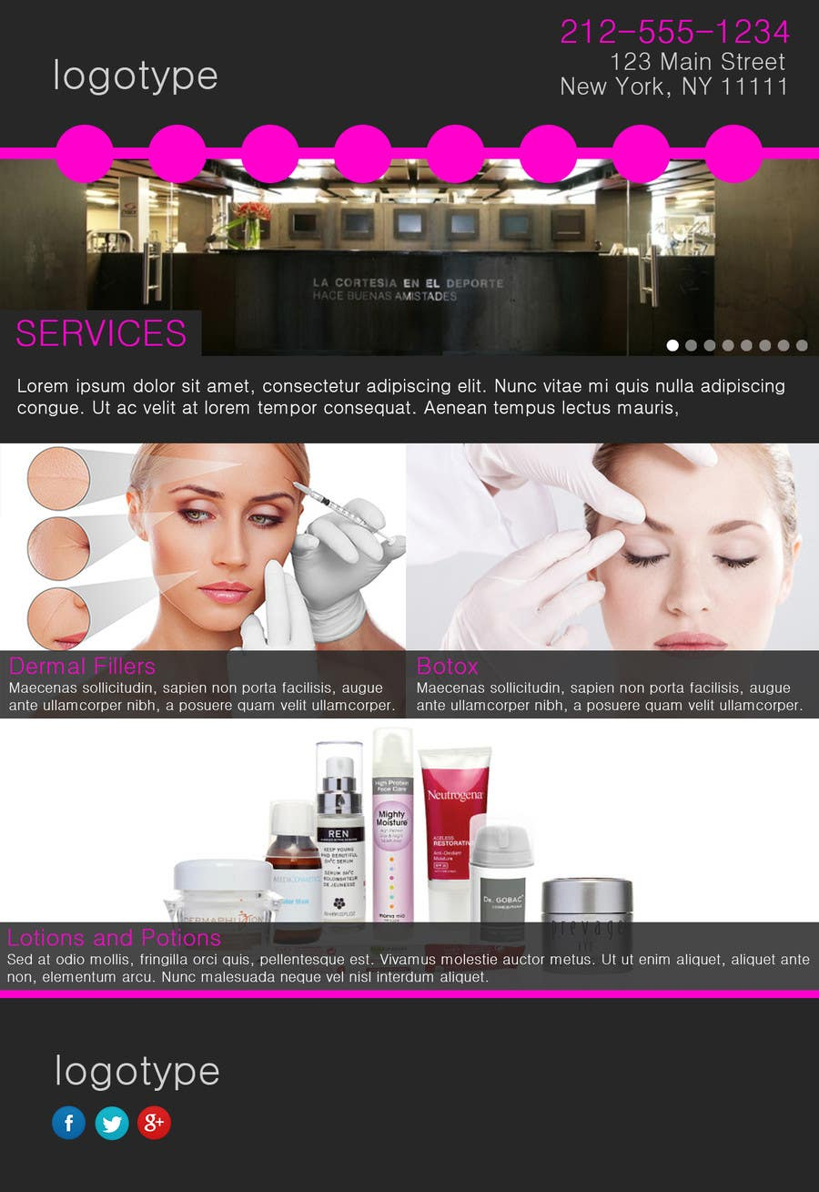 #2 for Design a Website Mockup for beauty spa site by Ramazor