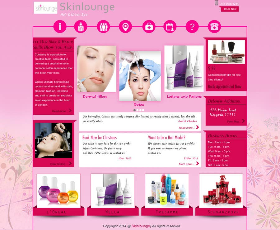 #3 for Design a Website Mockup for beauty spa site by sethusreeram