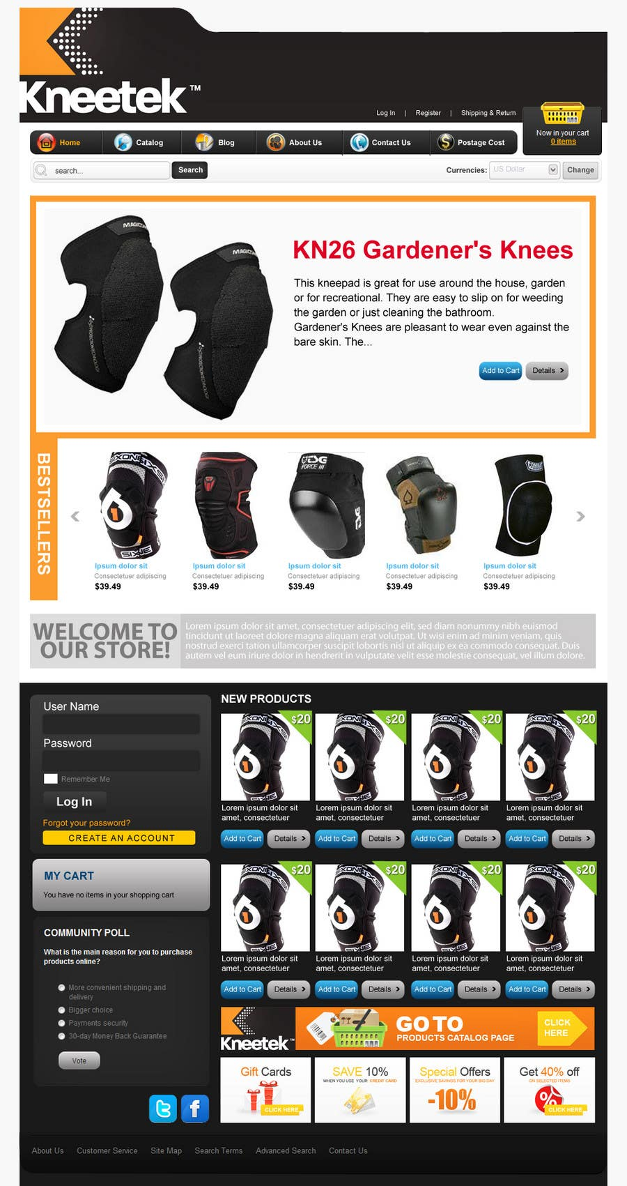 Contest Entry #62 for Website Design for KNEETEK.NET