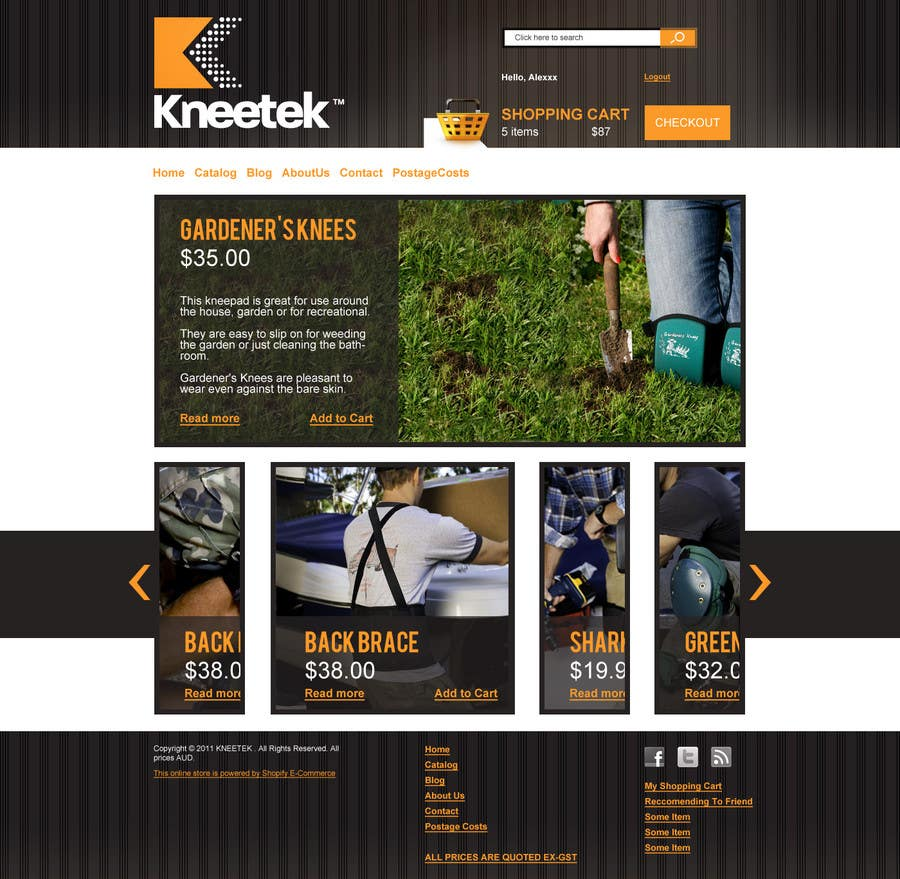 Proposition n°18 du concours Website Design for KNEETEK.NET