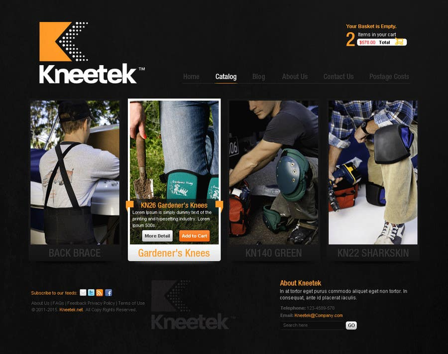 Proposition n°51 du concours Website Design for KNEETEK.NET