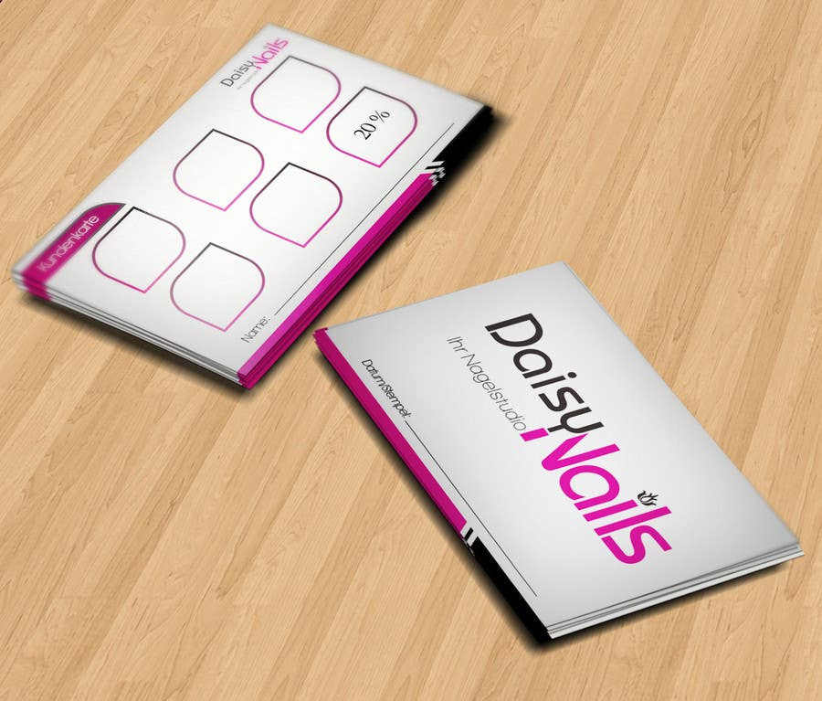#66 for Design some Business Cards for Nails Studio by RERTHUSI