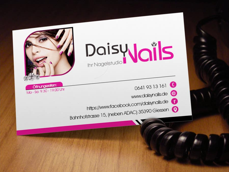 #69 for Design some Business Cards for Nails Studio by RERTHUSI