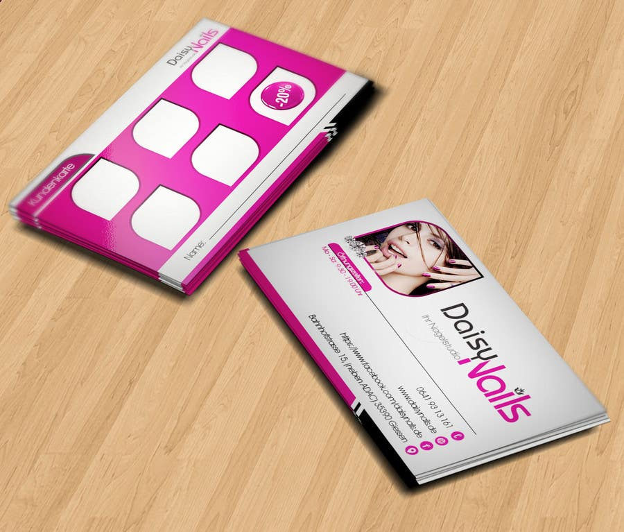 #96 for Design some Business Cards for Nails Studio by RERTHUSI