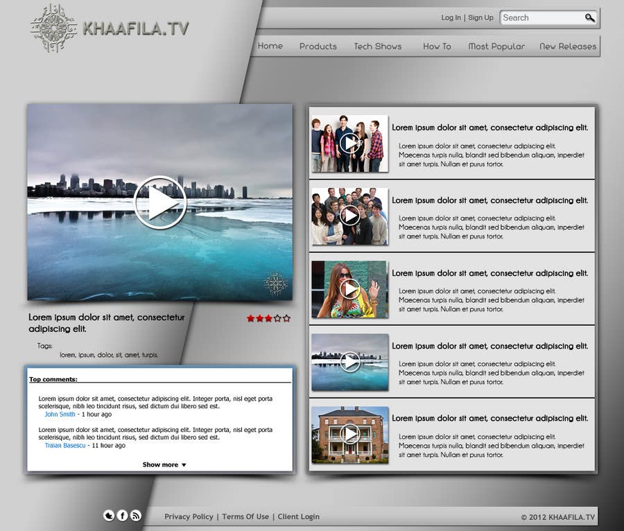 #14 for Website Design for KHAAFILA.TV  and HIJRAH.TV online televisions by danailacatalin