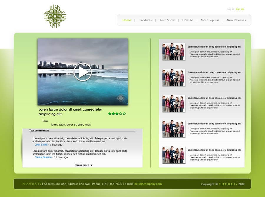 #15 for Website Design for KHAAFILA.TV  and HIJRAH.TV online televisions by danailacatalin