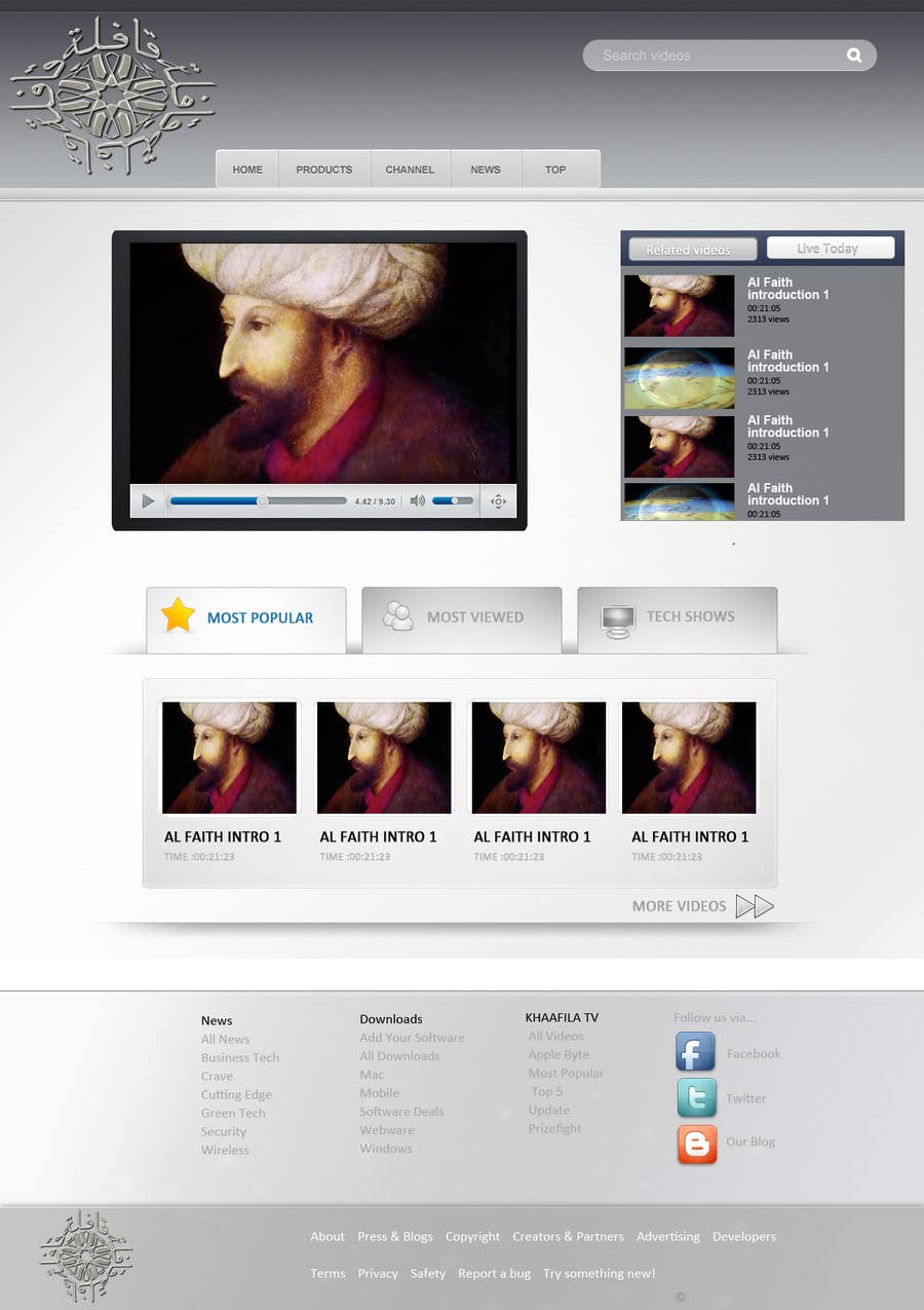 #19 for Website Design for KHAAFILA.TV  and HIJRAH.TV online televisions by design3r4u
